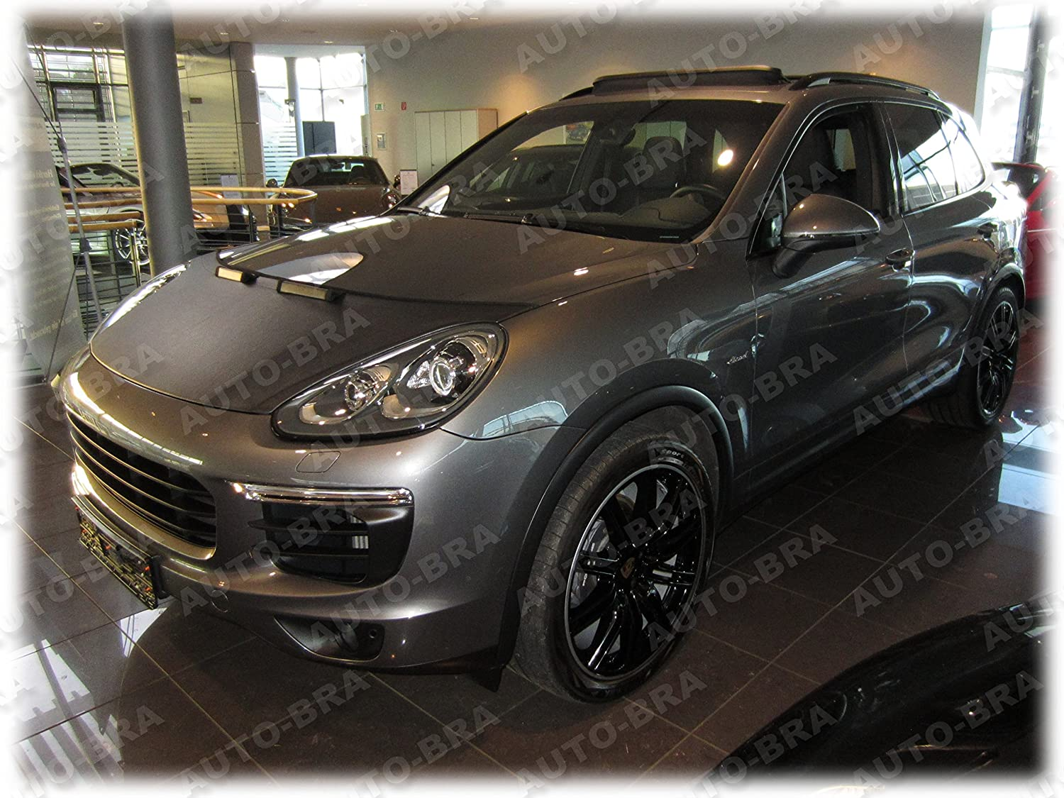 HOOD BRA Front End Nose Mask for Porsche Cayenne since 2014 Bonnet Bra STONEGUARD PROTECTOR TUNING