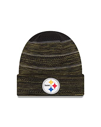 b3b95060fb53f8 New Era Men's Men's Steelers 2017 Sideline Official TD Knit Hat Black Size  One Size at Amazon Men's Clothing store: