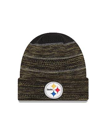 New Era Men s Men s Steelers 2017 Sideline Official TD Knit Hat Black Size  ... c8296f392