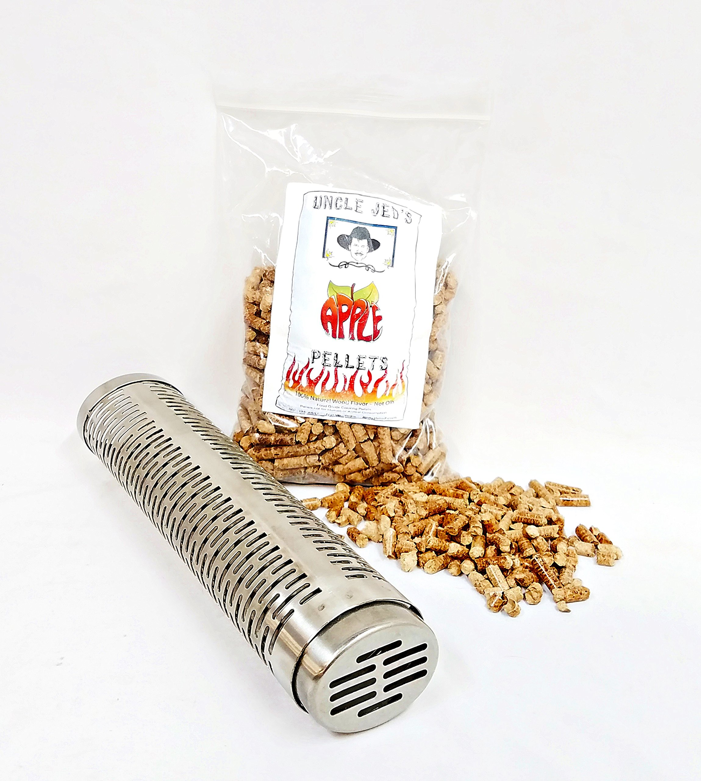 BBQ GRILL SMOKE TUBE KIT - Gas, Charcoal, Propane, Wood Pellet Smoker + 1LB SAMPLE PELLETS GMG-6027 by Green Mountain Grills
