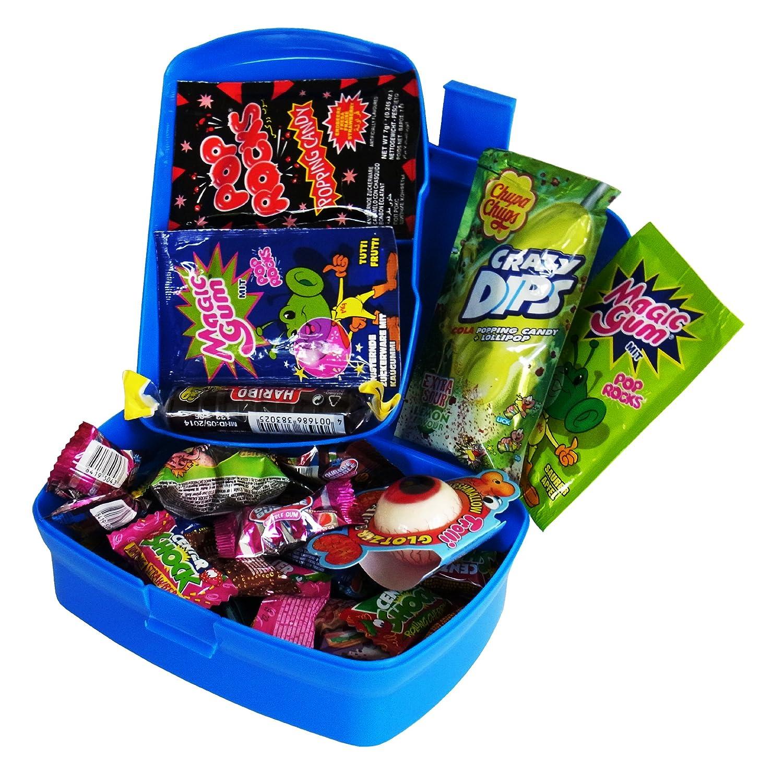 Geschenk Set Brotdose Schulanfang mit Süßigkeiten (37-teilig) CAPTAIN PLAY