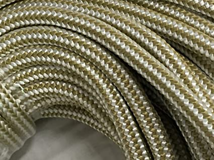 1/2 Inch by 300 Feet Gold Double Braid Nylon Rope