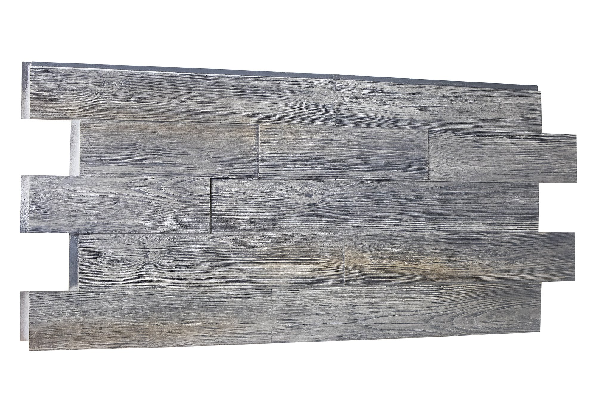 Raised Grain Transitional Faux Wood Panel - 7.51 SQ FT - Tongue and Groove (Weathered Barn)