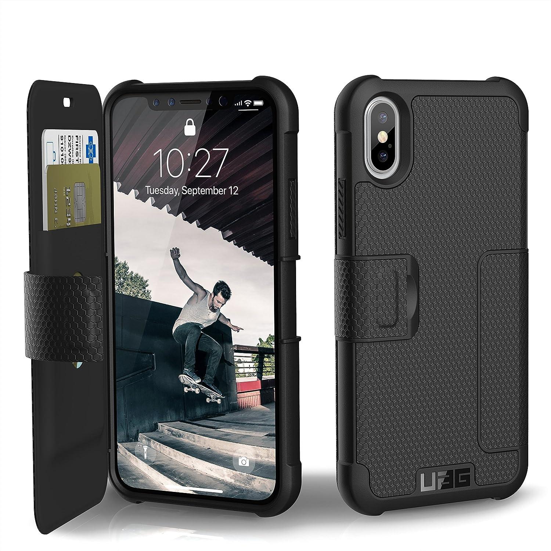 URBAN ARMOR GEAR UAG Folio iPhone Xs/X Metropolis Feather-Light Rugged [Black] Military Drop Tested iPhone Case
