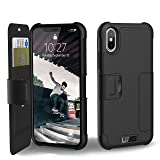 Urban Armor Gear UAG Folio iPhone XS / X Metropolis Feather-Light Rugged [BLACK] Military Drop Tested iPhone Case