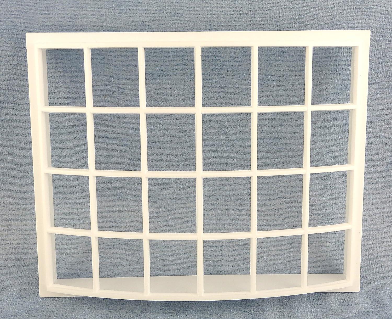 Melody Jane Puppenhaus Kunststoff Wei/ß Georgischer Bay Bogen Fenster 24 Scheibe 1:12 DIY Builders