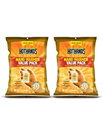 HotHands Hand Warmers - Long Lasting Safe Natural Odorless Air Activated Warmers - Up to 10 Hours of Heat - 20 Pair Value...