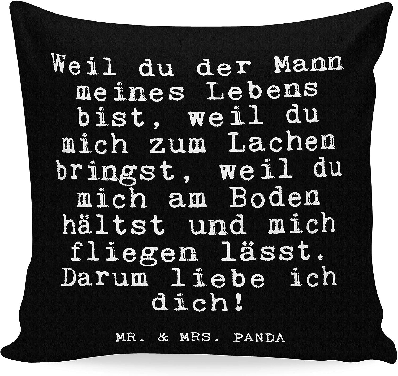 Mr. & Mrs. Panda 40x40 Kissen mit Spruch Weil du der Mann