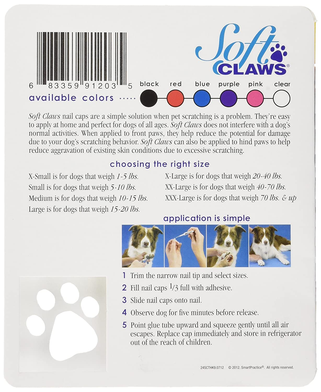 Amazon.com : Soft Claws Dog Nail Caps Take Home Kit, X-Large ...