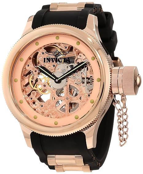 Invicta watch - Reloj cronógrafo de cuarzo para hombre con correa de caucho, color negro