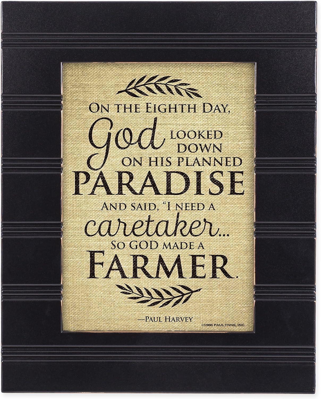 So God Made a Farmer on The Eigth Day Black 8 x 10 Sentimental Framed Art Plaque - Holds 5x7 Photo