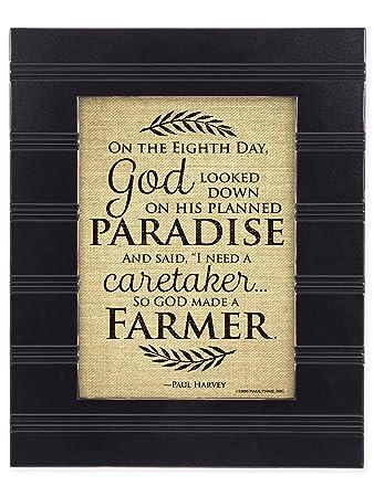 Amazoncom So God Made A Farmer On The Eigth Day Black 8 X 10