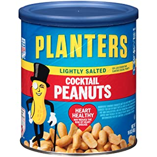 Planters Cocktail Peanuts, Lightly Salted, 6 Count, 96 Ounce