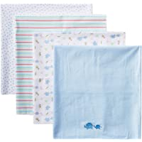 pasilk Newborn 4 Pack 100% Cotton Flannel Receiving Blanket