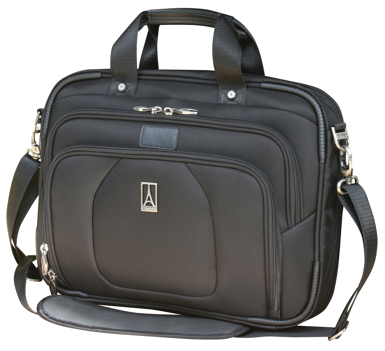 Travelpro Luggage Crew 9 Slim Business Brief, Black, One Size