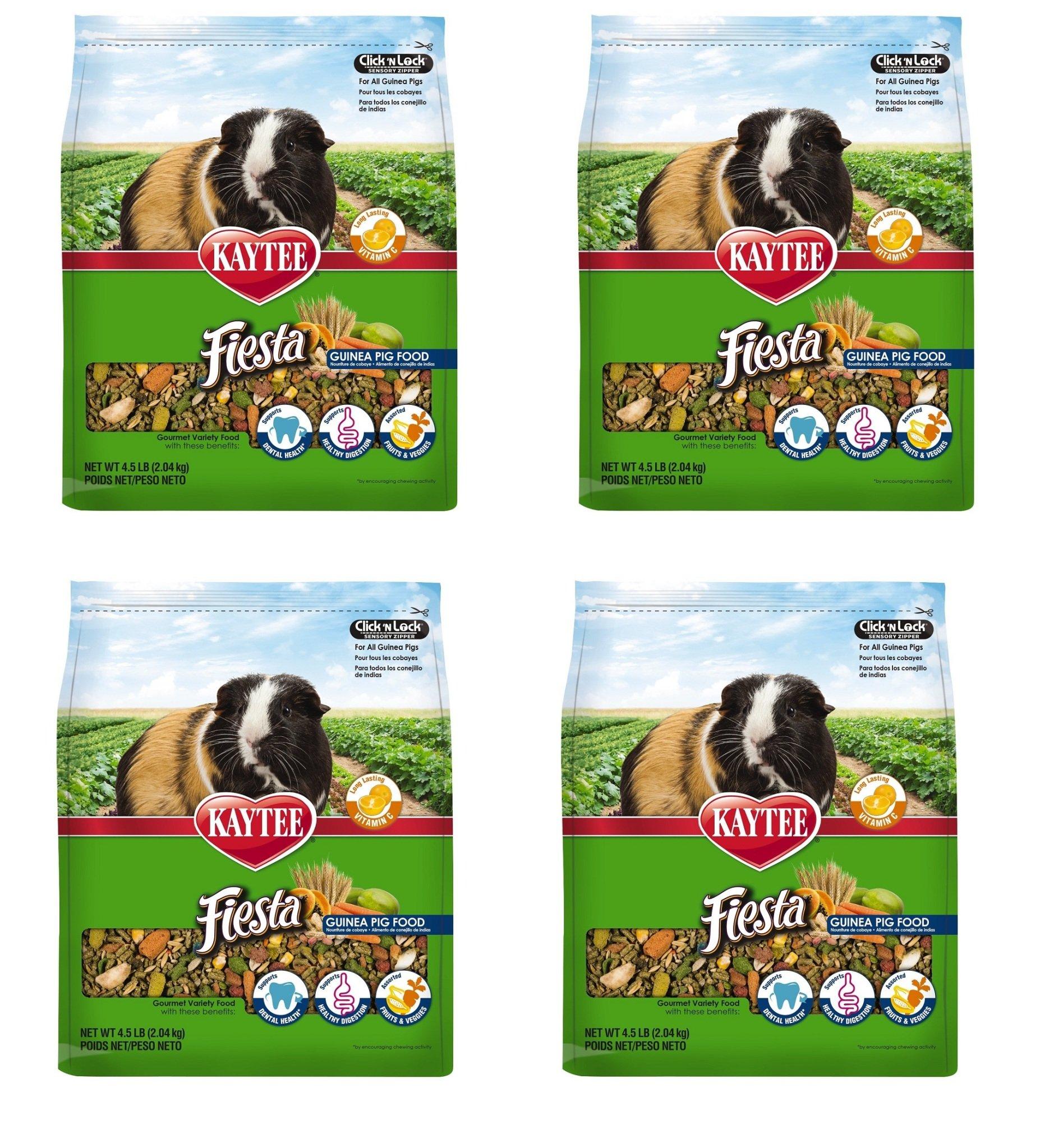 Kaytee Fiesta Guinea Pig Food, TPafXd 4 Pack (4.5-Pound)