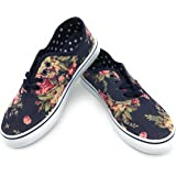 EASY21 Women Canvas Lace up Shoe Fashion Casual Comfort Sneakers