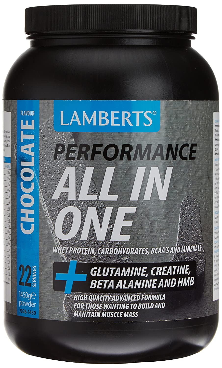 Lamberts All in One Suplemento para Deportistas, Sabor a Chocolate - 1450 gr: Amazon.es: Salud y cuidado personal