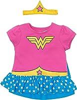 Warner Brothers Wonder Woman Toddler Girls' Costume Ruffle Shirt With Cape and Headband