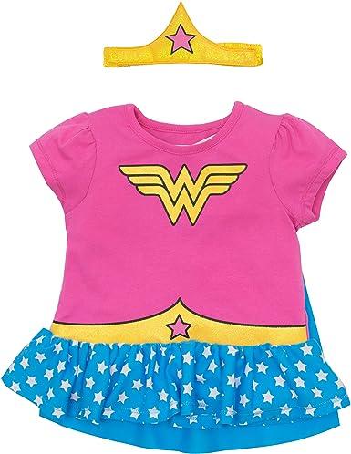 Warner Bros. - Disfraz de Wonder Woman con Camiseta con Volantes ...