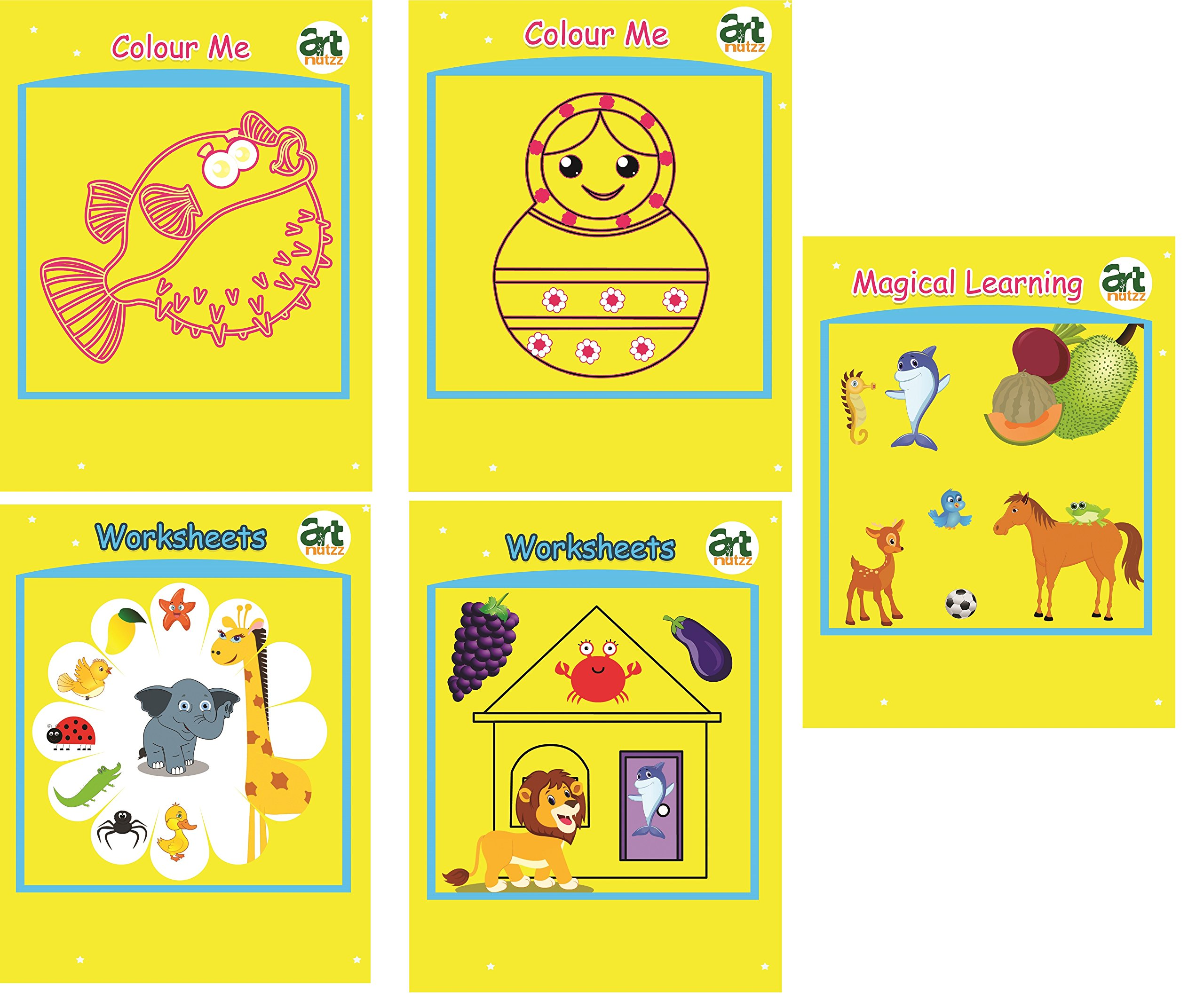Amazon in: Buy artnutzz Complete Learning & Colouring Set