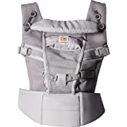 Ergobaby Adapt Cool Air Mesh Breathable Ergonomic Multi-Position Baby Carrier, Newborn To Toddler, Pearl Grey