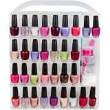 Nail Polish organizer storage holder case - stores 64 bottles - free polish remover bottle