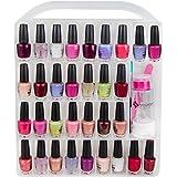 Pro Nail Polish storage organizer holder case - stores 64 bottles - free polish remover bottle
