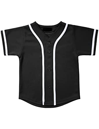 f86c02763 Hat and Beyond Kids Baseball Jersey Button Down T Shirts Active Uniforms  XXS-XL 5KSA0002