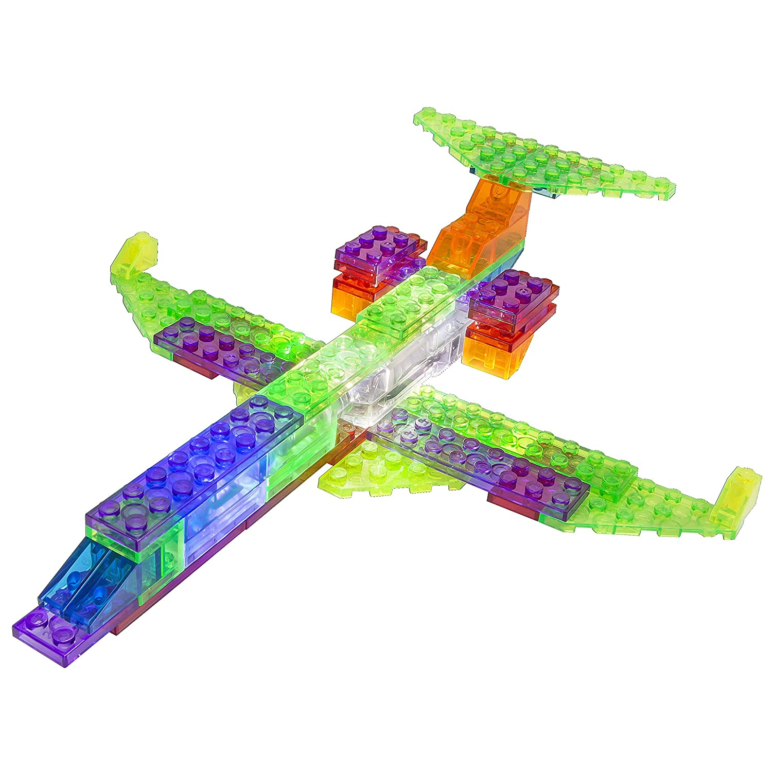 Amazon Com Laser Pegs In Plane Building Set Toys Games