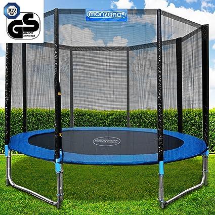 Deuba - Cama elástica (diámetro 427 cm, set completo con red de seguridad y escalera, certificado TÜV, SÜD, GS): Amazon.es: Deportes y aire libre