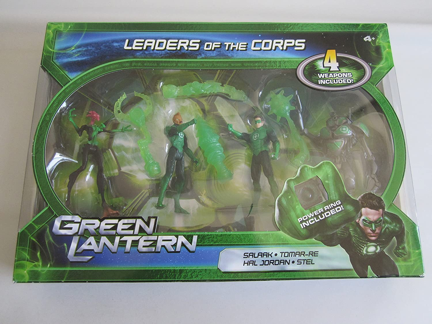 Amazoncom Green Lantern Movie 4 Inch Action Figure 4pack Leaders