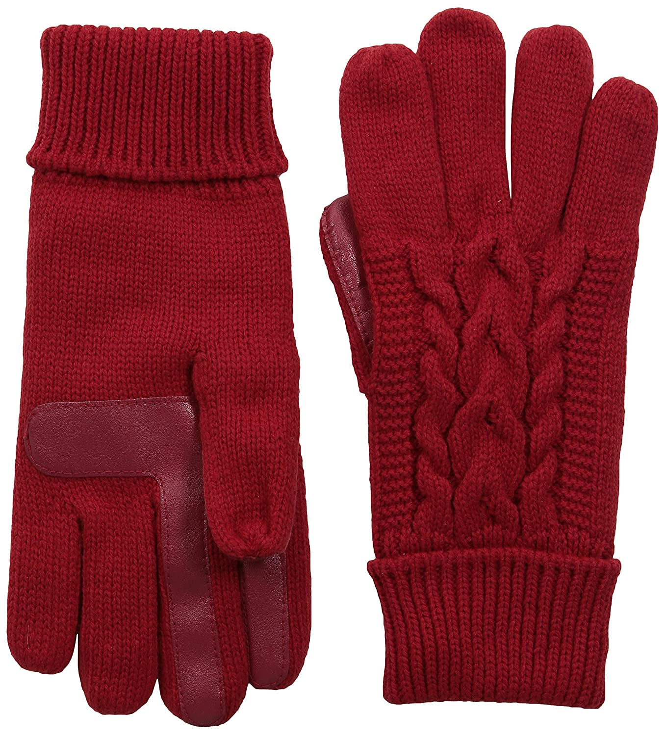 Isotoner Women's Solid Triple Cable Knit smarTouch Gloves Navy One Size Totes Women' s Accessories 40029