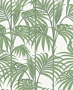 Honolulu vert palmier papier peint: Amazon.fr: Cuisine & Maison