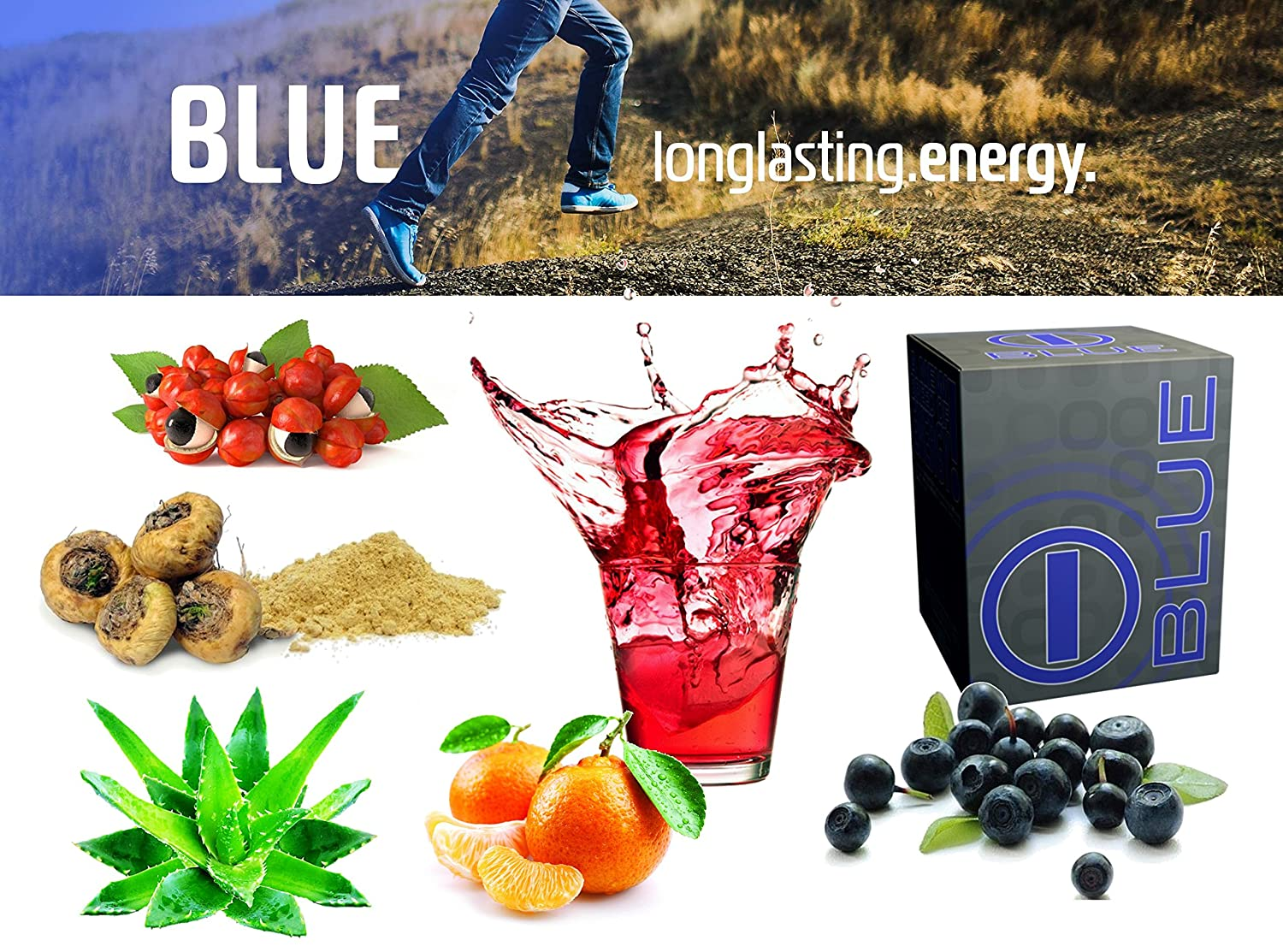 Amazon.com: Blue Energy Blend bhip Drink-Vitamins+Mineral+Health Care+Fitness+Weight Loss: Health & Personal Care
