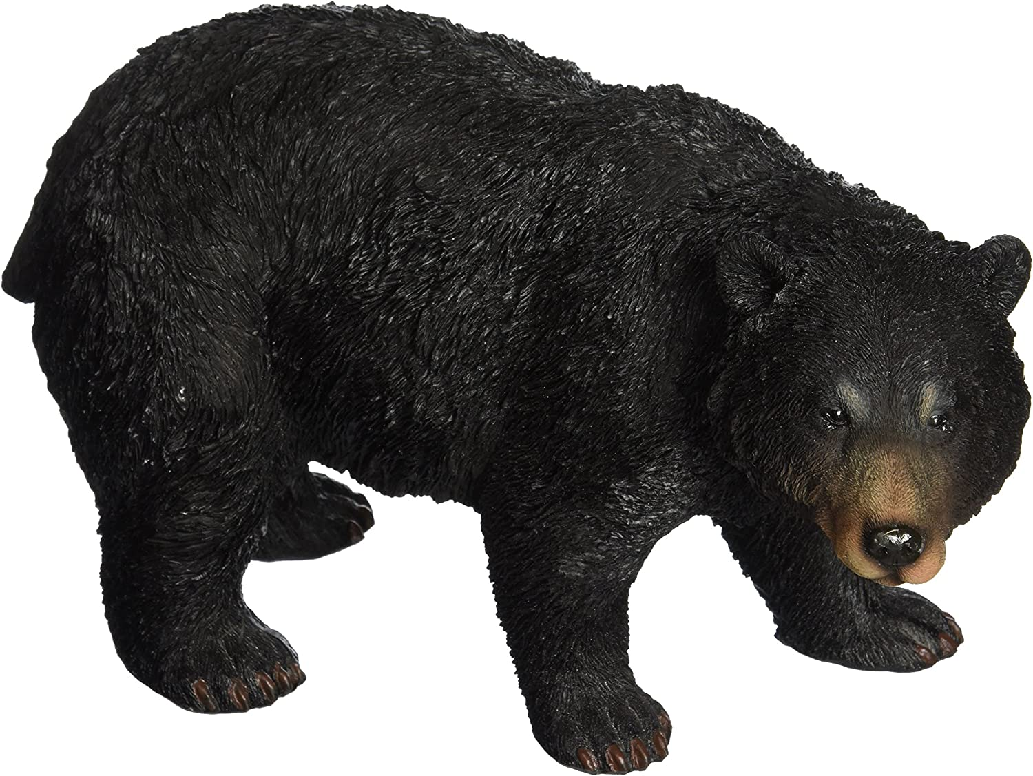 Design Toscano QM24217001 Black Bear Statue Walking, Multicolored