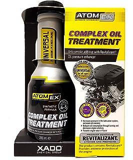 Tratamiento revitalizante para aceite de motor Atomex. Detiene el humo del motor XADO