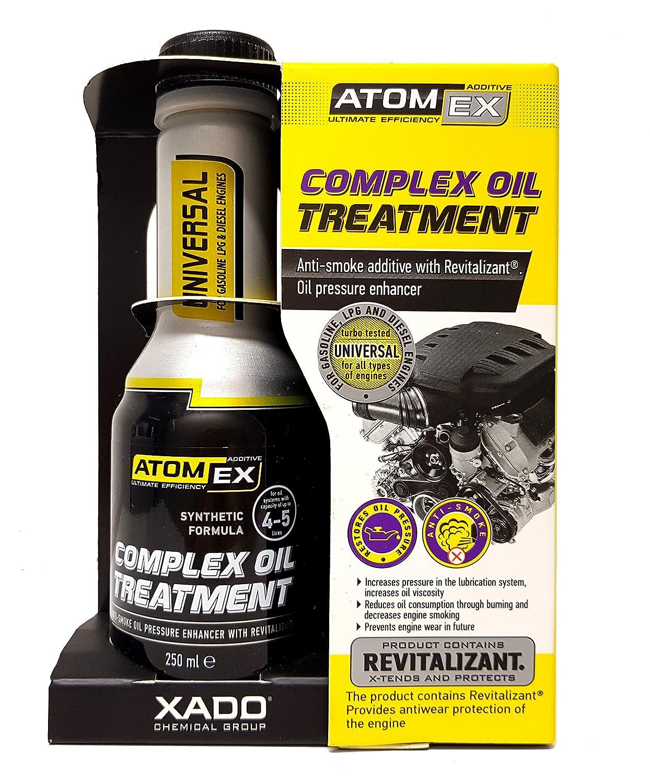 Tratamiento revitalizante para aceite de motor Atomex. Detiene el humo del motor XADO Perfect