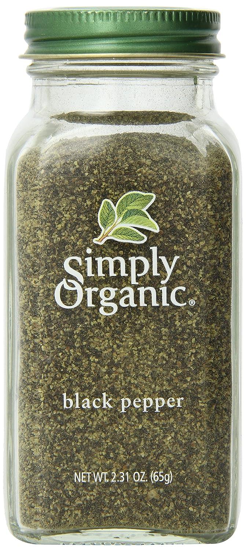organic black pepper grinds