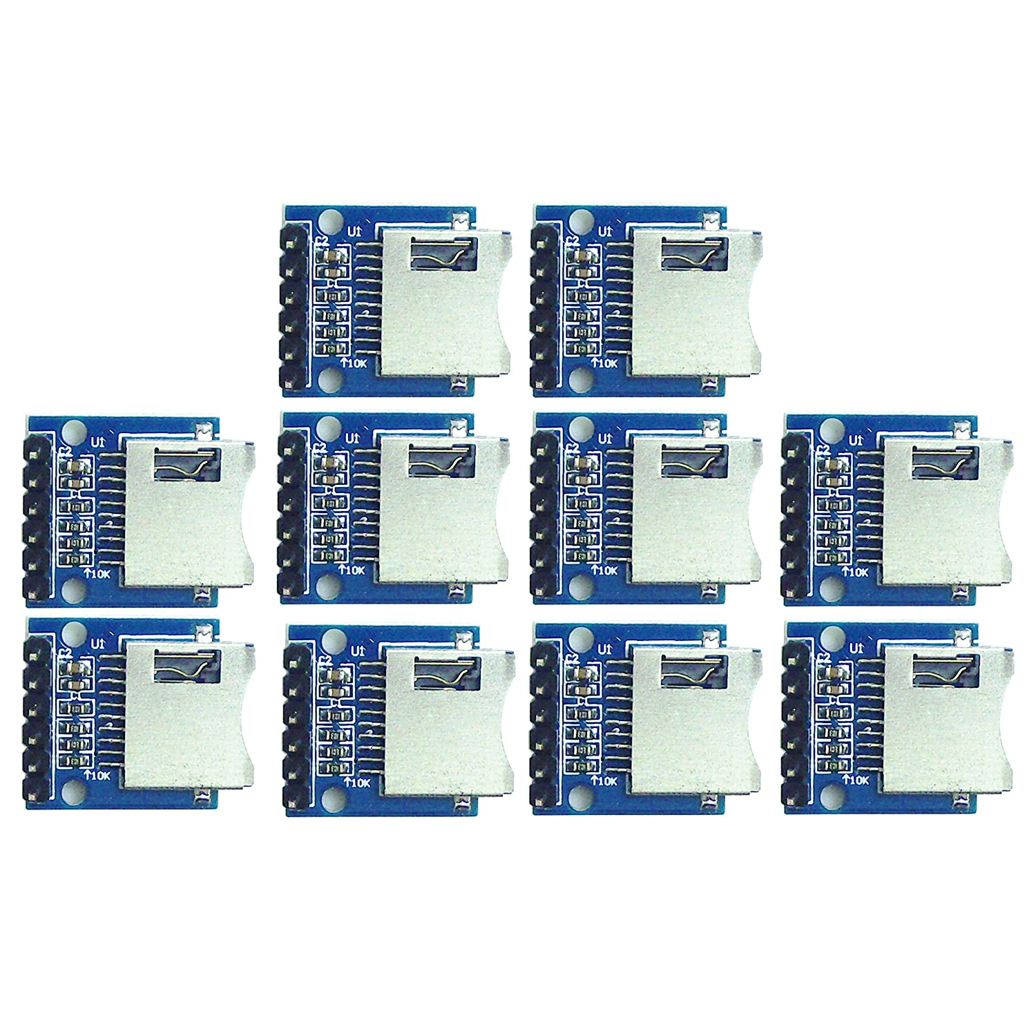 10pcs Micro SD Memory Card Module for Additional Data Storage Capacity Microcontroller Projects from Optimus Electric