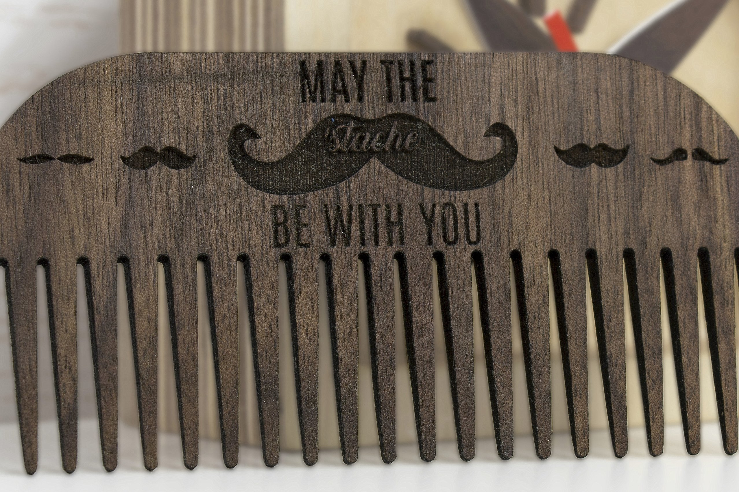 Walnut beard comb - Wooden beard comb - Walnut wood comb - Wooden comb - Wooden hairbrush - Brown comb - Father day gift - Husband gift