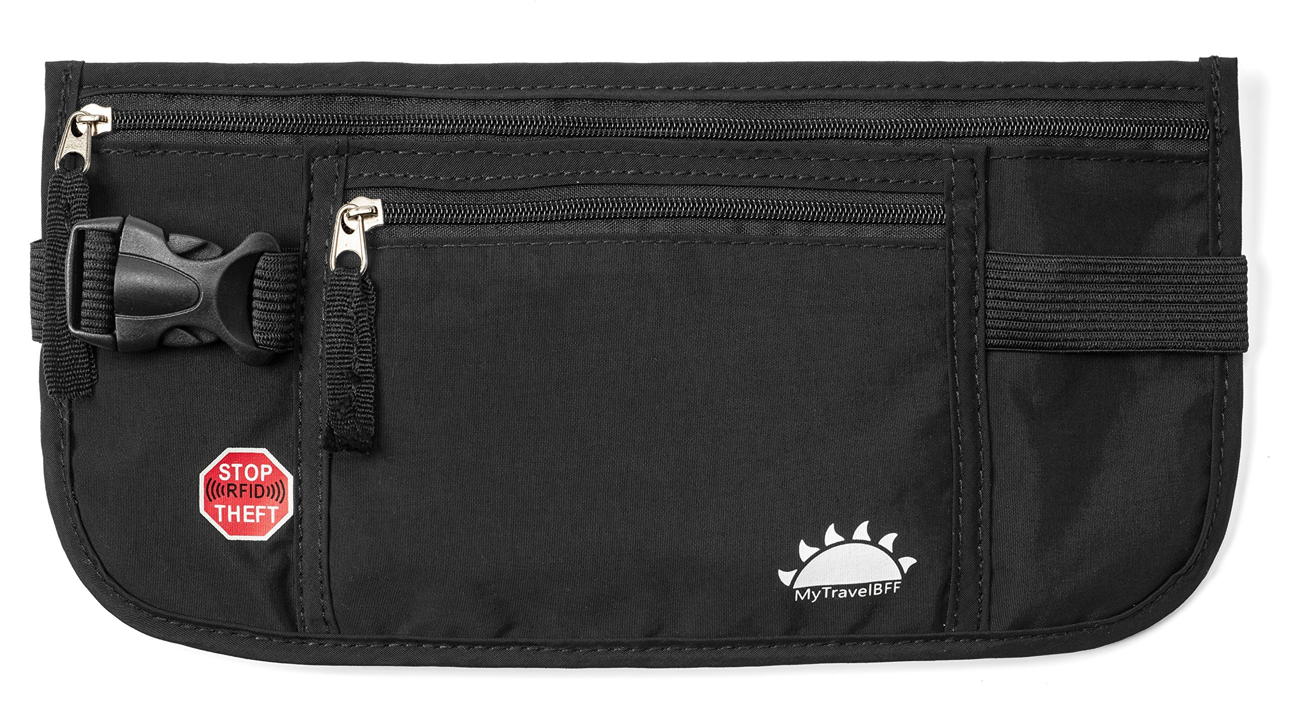 RFID Blocking Money Belt for Travel by MyTravelBFF, Keep Your Passport Hidden! by MyTravelBFF (Image #1)