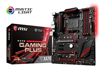 MSI X470 Gaming Plus Performance Gaming AMD X470 Ryzen 2 AM4 DDR4 ATX Motherboard Motherboards at amazon
