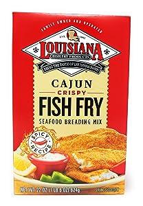 Louisiana Fish Fry Cajun Crispy Fish Fry Seafood Breading Mix 22oz