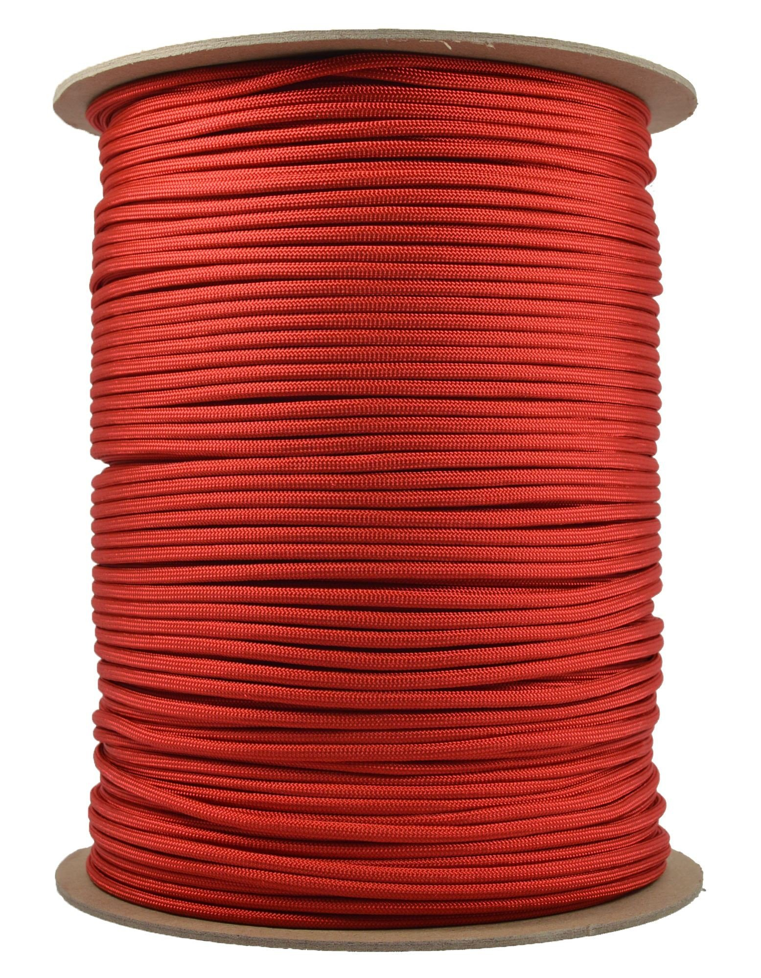 BoredParacord Brand Paracord (1000 ft. Spool) - Red