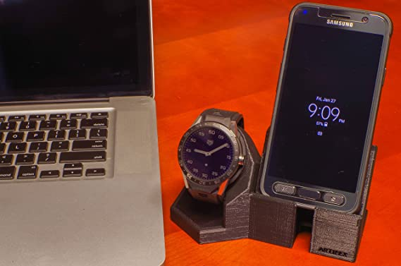 Amazon.com: Artifex Design Stand Configured for 1st Generation TAG Heuer Connected 46MM Watch Stand, Smartwatch Cradle (1st Gen TAG Combo): Electronics