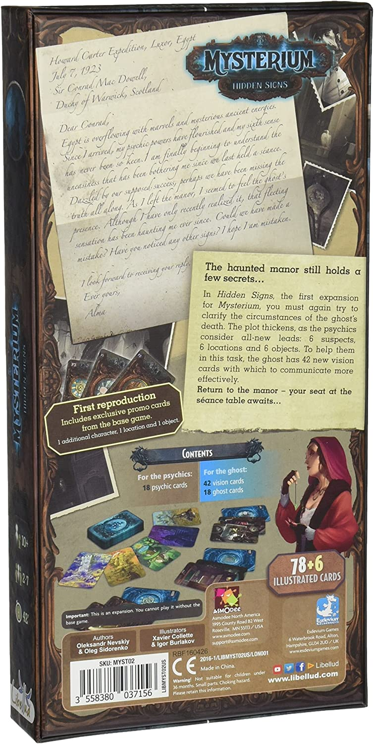 Juego expansi/ón Mysterium Hidden Signs Libellud LIBMYST02US