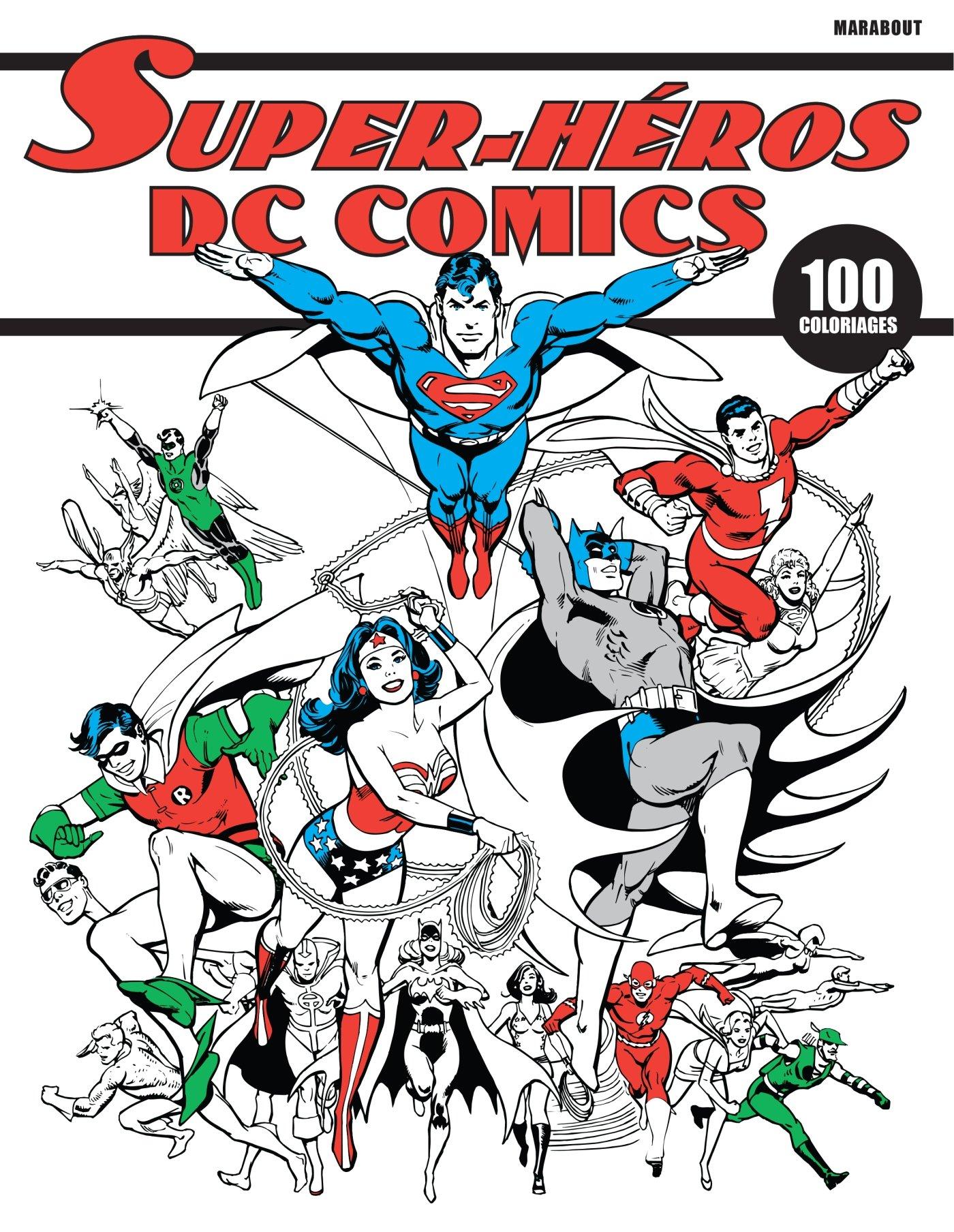 Carnet De Coloriage Super Heros Dc Comics Amazon Fr Collectif Livres