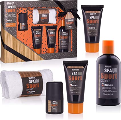 BRUBAKER Cosmetics Spa Sport Musc 5 piezas, set de baño para ...