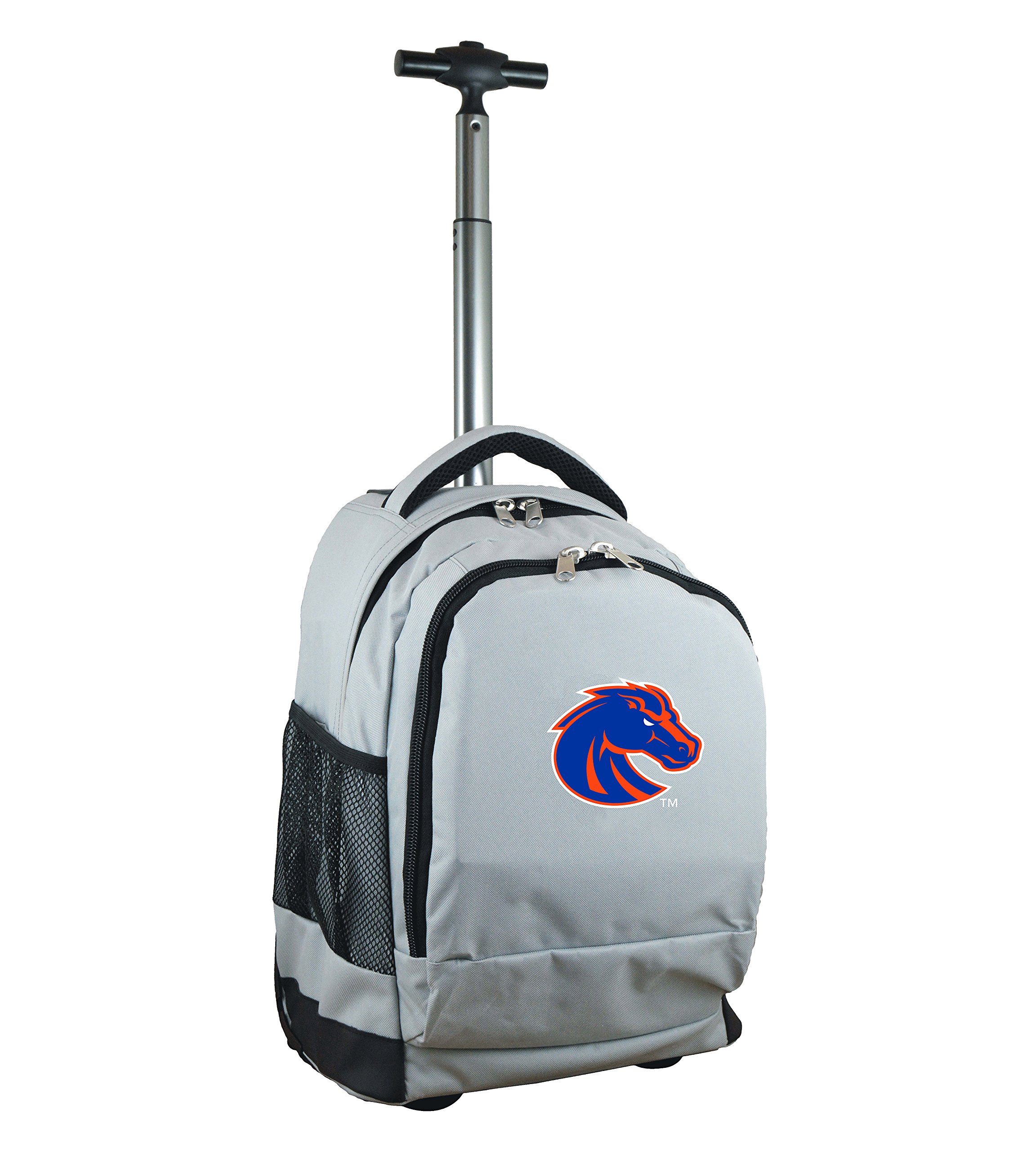 Denco NCAA Boise State Broncos Expedition Wheeled Backpack, 19-inches, Grey